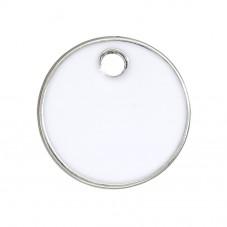2 Breloques Sequin Email Blanc 16mm pour la Création de Bijoux Fantaisie - DIY
