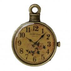 2 Breloques Horloge Montre Ancienne Bronze Thème Alice au Pays des Merveilles 18mm pour la Création de Bijoux Fantaisie - DIY