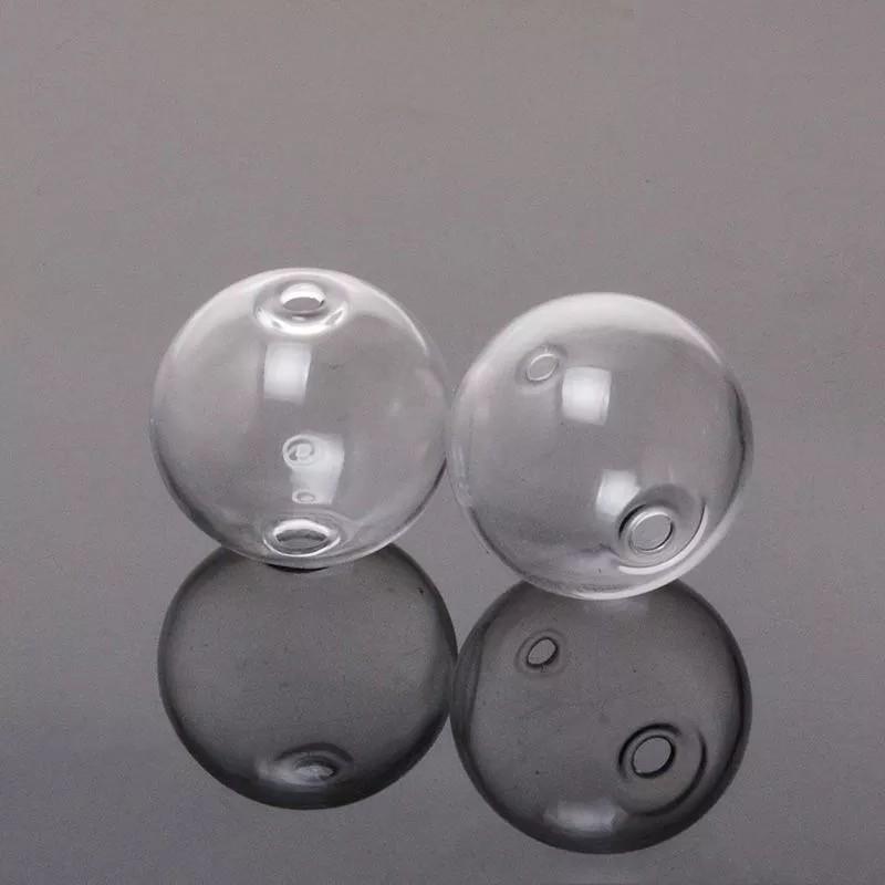 2 Perles Globe en Verre 16mm - 2 trous pour Création de Bijoux DIY