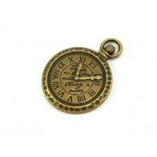 4 Breloques Horloge Bronze Thème Alice au Pays des Merveilles 29x21mm pour la Création de Bijoux Fantaisie - DIY