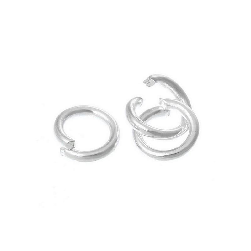 100 Anneaux de jonction Gunmetal 5 mm ouvert 5mm creation bijoux collier Bracet