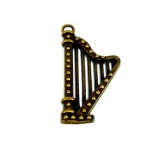 Grande Breloque Harpe Bronze 40mm