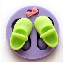 Moule en Silicone Chaussures Petite Fille Bébé Fimo Résine Gâteau