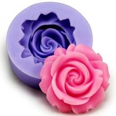 Moule en Silicone Fleur Rose Fimo Résine Gâteau