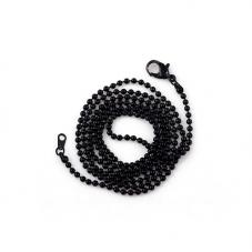 Collier Chaîne à Bille Noir 65cm pour la Création de Bijoux Fantaisie - DIY
