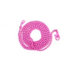Collier Chaîne à Bille Fuchsia 65cm pour la Création de Bijoux Fantaisie - DIY