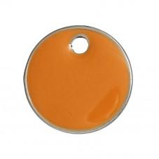 2 Breloques Sequin Email Orange 16mm pour la Création de Bijoux Fantaisie - DIY