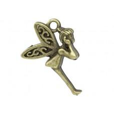 5 Breloques Fée Ange Bronze 23x16mm pour la Création de Bijoux Fantaisie - DIY
