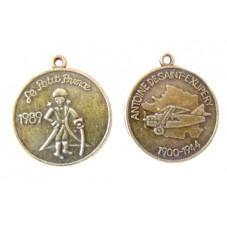 2 Breloques Médaille Petit Garçon Bronze 25x28mm pour la Création de Bijoux Fantaisie - DIY