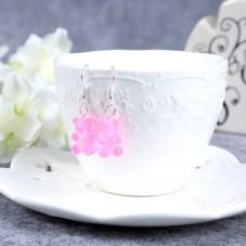Boucles d'Oreilles Nounours 17mm Rose
