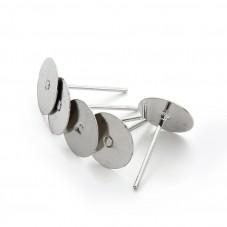 40 Puces Clous Tiges Boucles d'Oreilles Argentées soit 20 Paires 11x6mm pour la Création de Bijoux Fantaisie - DIY