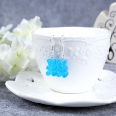 Boucles d'Oreilles Nounours 17mm Bleu