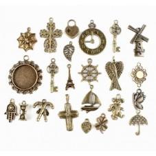 46 Breloques Mixte Bronze pour la Création de Bijoux Fantaisie - DIY
