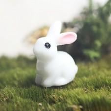 Cabochon Miniature Lapin en Résine pour Globe 22x18x11mm pour la Création de Bijoux Fantaisie - DIY