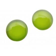2 Cabochons en Verre Illustrés Uni Vert 12mm pour la Création de Bijoux Fantaisie - DIY