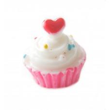 2 Cabochons Crème Glacé Cupcake en Résine 15mm pour la Création de Bijoux Fantaisie - DIY