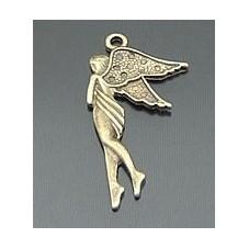 4 Breloques Fée Bronze 30x16mm pour la Création de Bijoux Fantaisie - DIY