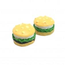 2 Cabochons Hamburger Miniature 12mm