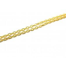 1 Mètre de Chaine Extra Fine Doré 1mm pour la Création de Bijoux Fantaisie - DIY