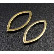 10 Connecteurs Navette Ovale Bronze 12x6mm pour la Création de Bijoux Fantaisie - DIY