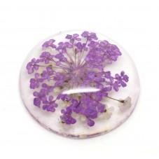 Cabochon en Résine Véritables Fleurs Séchées 25mm