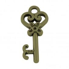 4 Breloques Clé Bronze Thème Alice au Pays des Merveilles 21x9mm pour la Création de Bijoux Fantaisie - DIY