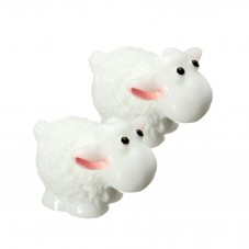 Cabochon Mouton Miniature en Résine pour Globe 18x19mm