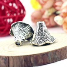 2 Coupelles Calottes pour Perles Fleur Argenté 22x21mm pour la Création de Bijoux Fantaisie - DIY