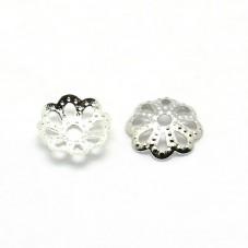 20 Coupelles Calottes pour Perles Platine 6x1,5mm pour la Création de Bijoux Fantaisie - DIY