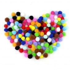 20 Pompons Boule Multicolore 10mm