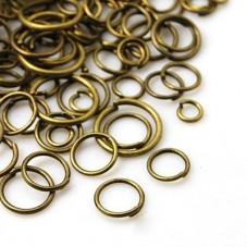 100 Anneaux Dessoudés Bronze Mixte 4-10mm pour la Création de Bijoux Fantaisie - DIY