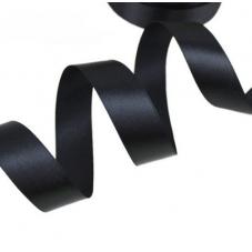 2 Mètres de Ruban Satin Noir 15mm