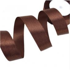 2 Mètres de Ruban Satin Chocolat 15mm