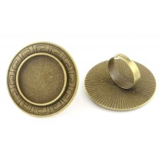 Support Bague Ajustable Bronze pour Cabochon 25mm pour la Création de Bijoux Fantaisie - DIY