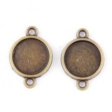 4 Supports Connecteur Bronze pour Cabochon 10mm pour la Création de Bijoux Fantaisie - DIY