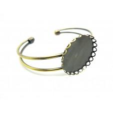 Support Bracelet Bronze pour Cabochon 25mm pour la Création de Bijoux Fantaisie - DIY