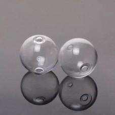 2 Perles Globe en Verre 13mm - 2 trous pour Création de Bijoux DIY pour la Création de Bijoux Fantaisie - DIY