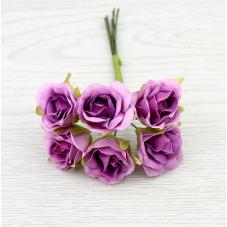 6 Tiges de Fleur Rose Violettes 2-3cm
