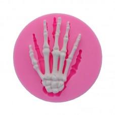 Moule en Silicone Main de Squelette Gothique Fimo Résine Gâteau