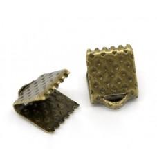 25 Embouts Pinces Griffes Attaches Bronze pour Ruban 6mm pour la Création de Bijoux Fantaisie - DIY