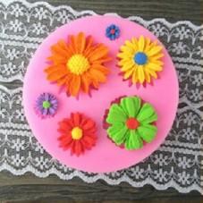 Moule en Silicone Fleurs Marguerite Fimo Résine Gâteau