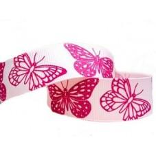 1 Mètre de Ruban Gros Grain Pailleté Papillon 22mm pour la Création de Bijoux Fantaisie - DIY