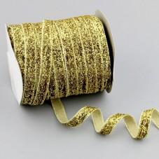 1 Mètre de Ruban Velours Pailleté 10mm pour la Création de Bijoux Fantaisie - DIY