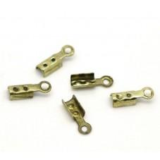 50 Embouts Attaches pour Cordon Bronze 7x2 mm pour la Création de Bijoux Fantaisie - DIY