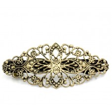 Support Barrette Clip Filigrane Bronze 8cm