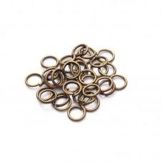 100 Anneaux Ouverts Bronze 6mm pour la Création de Bijoux Fantaisie - DIY