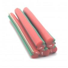 5 Canes Pomme Rouge en Pâte Polymère 5cm pour la Création de Bijoux Fantaisie - DIY