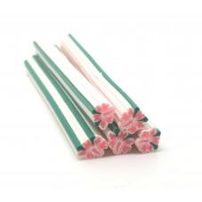 5 Canes Fleur en Pâte Polymère 5cm pour la Création de Bijoux Fantaisie - DIY