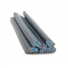 5 Canes Papillon Bleu en Pâte Polymère Fimo 5cm pour la Création de Bijoux Fantaisie - DIY