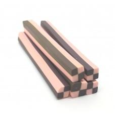 5 Canes Damier Choco/Fraise en Pâte Polymère 5cm pour la Création de Bijoux Fantaisie - DIY